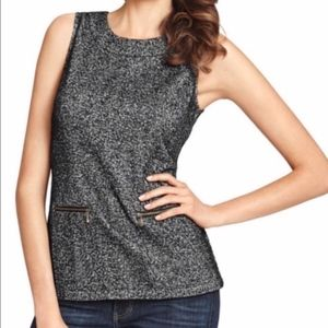 Tops - CAbi sleeveless gray and black top